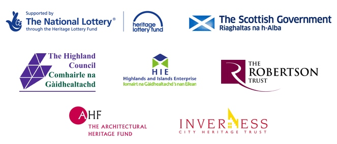 Supported by the Heritage Lottery Fund, The Scottish Government, Highlands & Islands Enterprise, Inverness City Heritage Trust and The Robertson Trust.